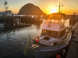 morro bay harbor at sunset-2578
