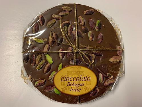 Tortino cioccolato latte con pistacchi