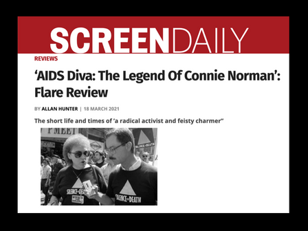 REVIEW of 'AIDS DIVA'                                  from Screen Daily (UK)