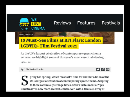 REVIEW OF 'AIDS DIVA' from 'WE LOVE CINEMA' blog - one of 10 'must-see' films