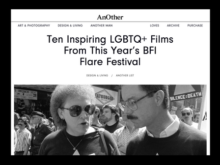 'AIDS DIVA' : 'Ten Inspiring Films' from BFI Flare from 'AnOther' blog