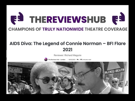 REVIEW of 'AIDS DIVA' from 'The Reviews Hub'