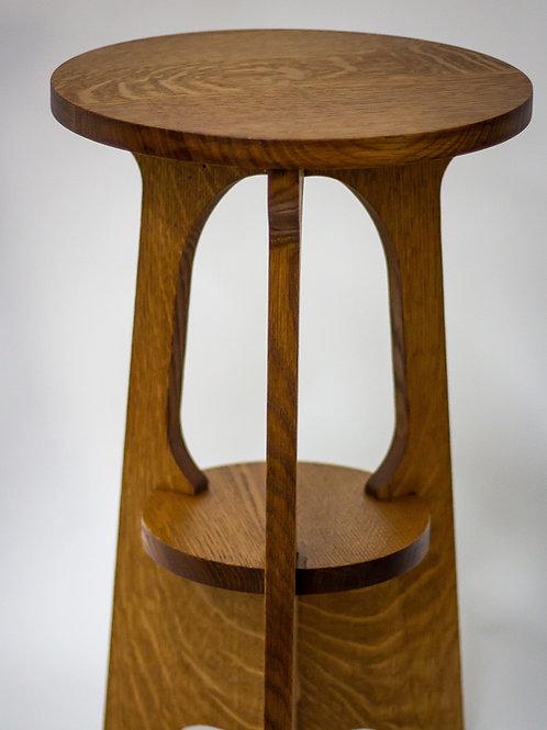 "Craftsman/Mission Style Three Legged Table 12"""