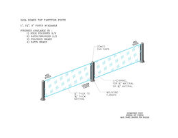 525A - Dome Top Partition Posts