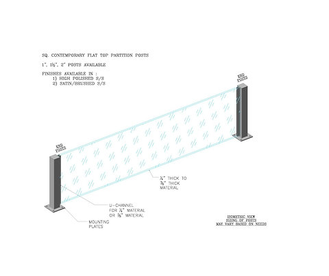 Square Partition Post Dividers