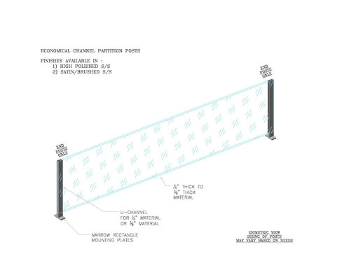Economical Divider With Channel Posts