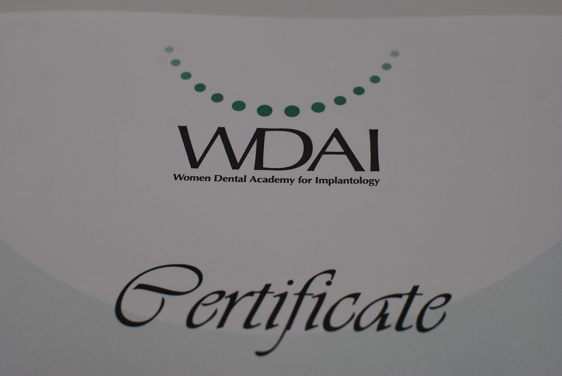 WDAIサティフィケート
