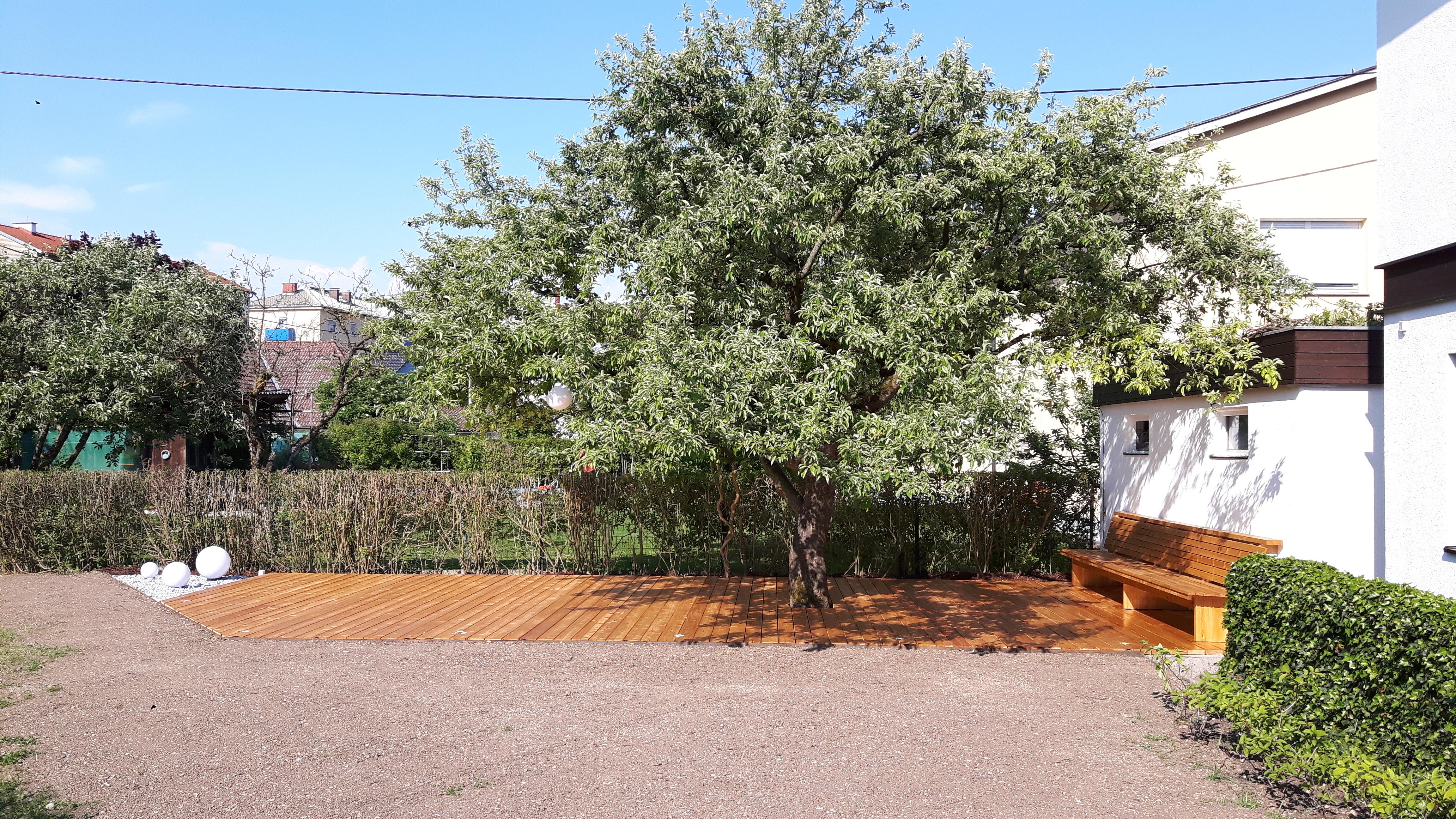 Terrasse unter Apfelbaum (1)
