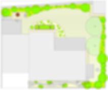 Gartenentwurf Grundriss