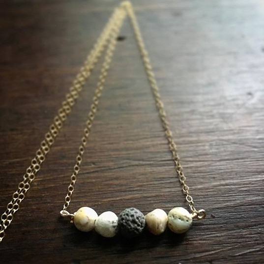 Essential Celestial Inspired Essential Oil Diffusing Necklaces.