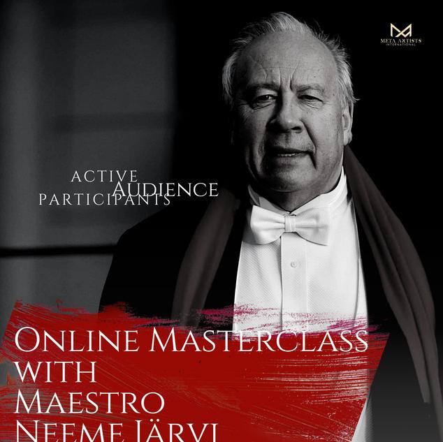 1st Online Masterclass Neeme Järvi - Dec 2020 & Jan 2021