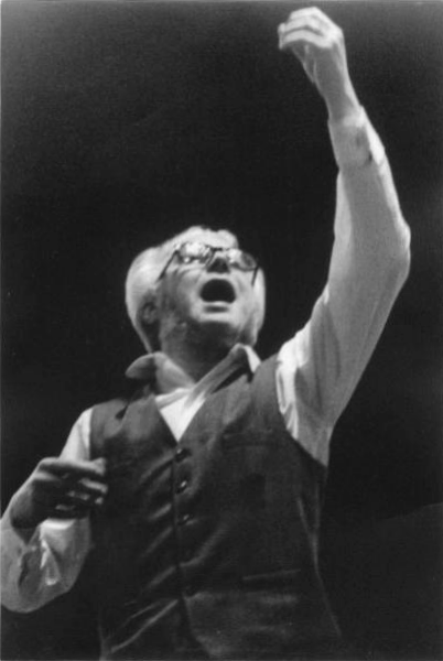 "Yves Ramette conducting his choir ""Vox Ardens"""