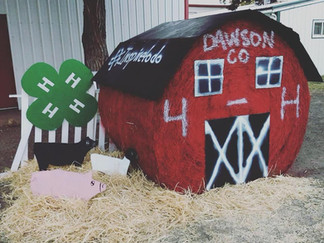 Winners of the Hay Bale Contest