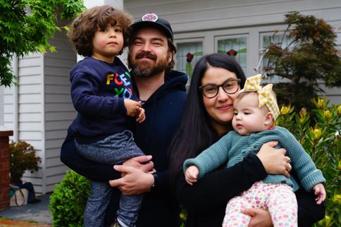 Vanessa, Julien, Étienne and Mathilde