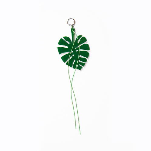 Tropic Green Leaf Earring