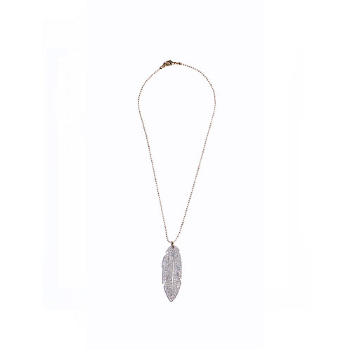 Leaf Necklace Translucent Silver