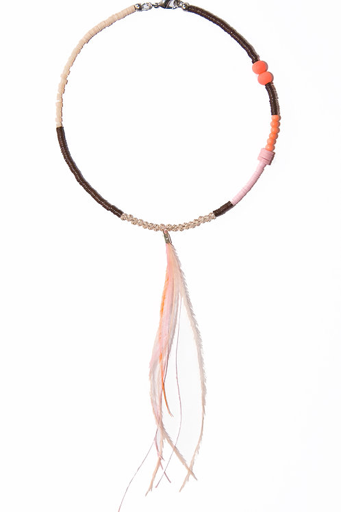 Brown and Pink Necklace