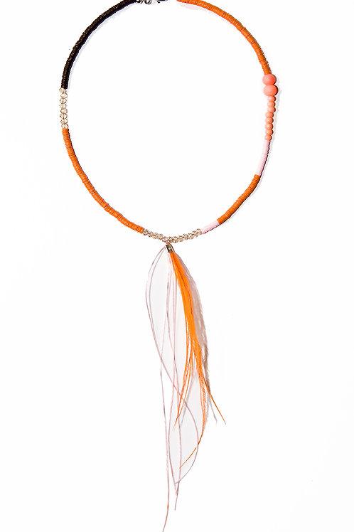 Orange Coloured Necklace