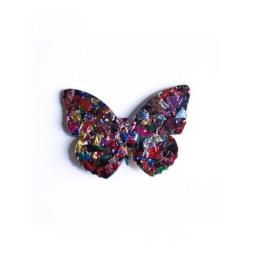 Mutli Coloured Butterfly Broche