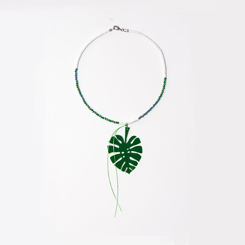 Tropic Green Leaf Necklace