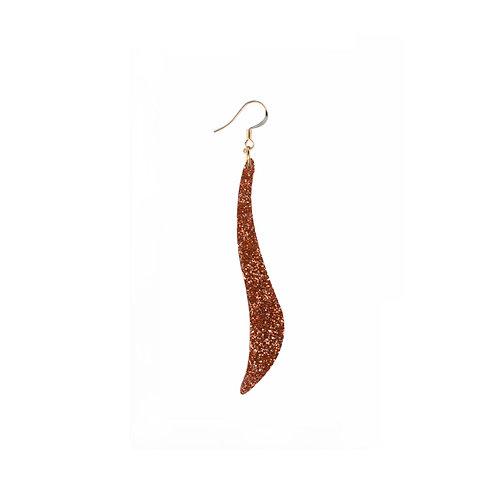 Seaweed Earring in Glitter Colours