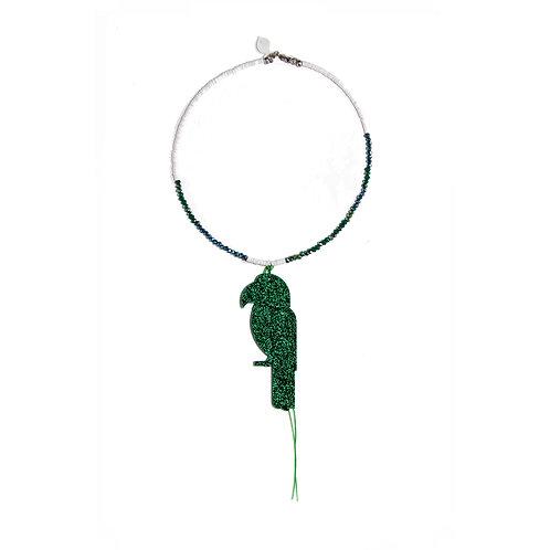 Glitter Green Ara Choker