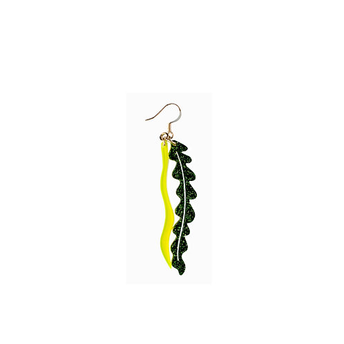Seaweed Earring in Glitter and Fluo Colours