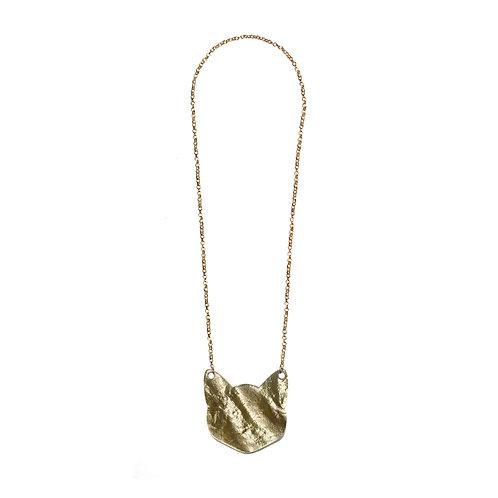 Shiny Gold Cat Necklace