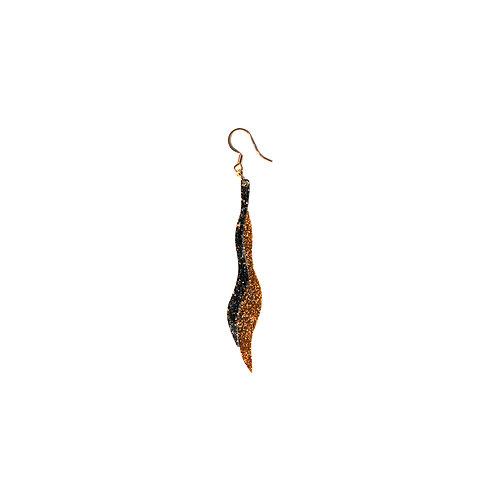 Seaweed Earring in 2 glitter colours