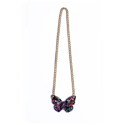 Multi Coulor Butterfly Necklace