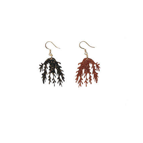 Seaweed Earring in Glitter
