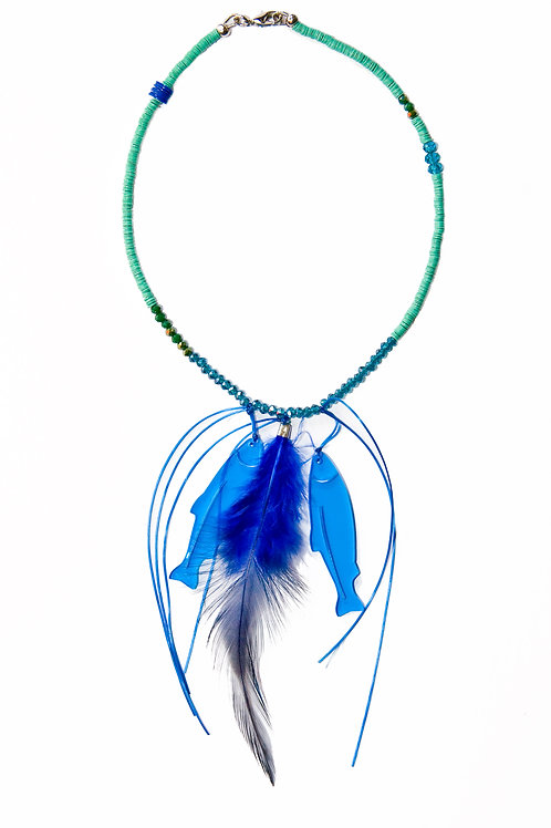Green Fish Necklace
