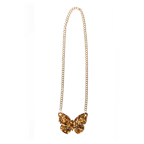 Sparkling Gold Butterfly Necklace