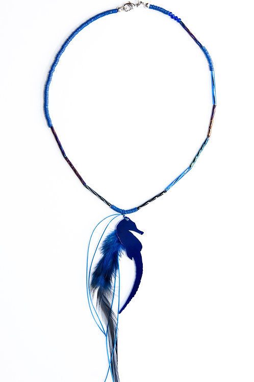 Dark Blue Coloured Necklace