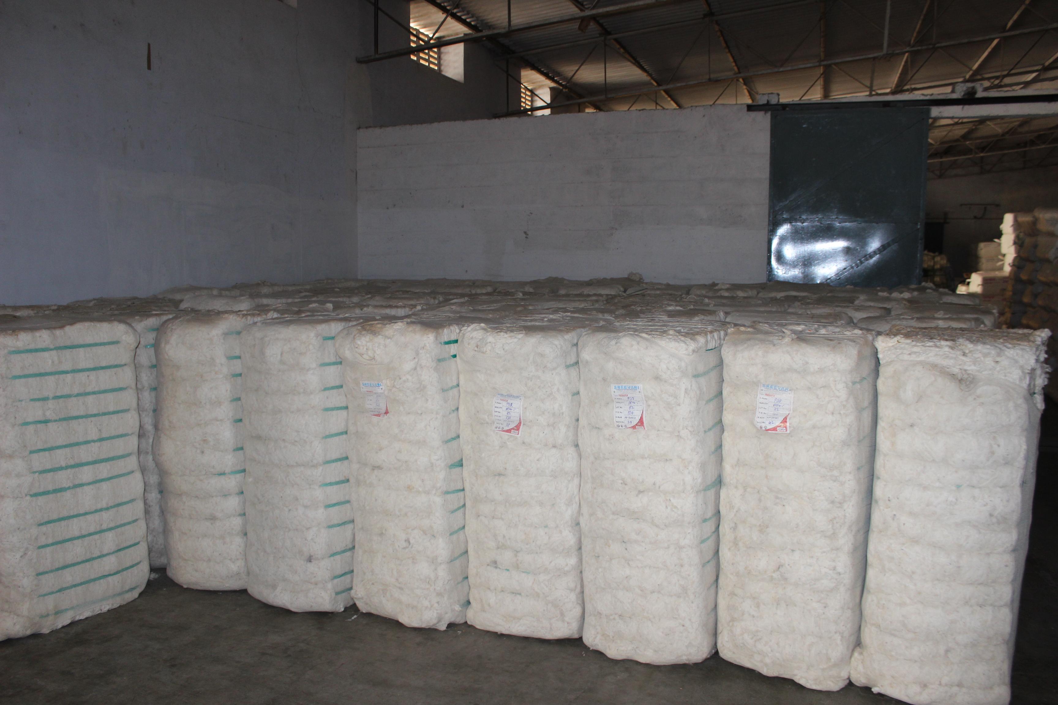フェアトレードコットンの原綿のベール