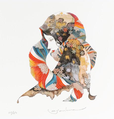 花のスカーフをした女 Masakane Yonekura Art Museum @ Web