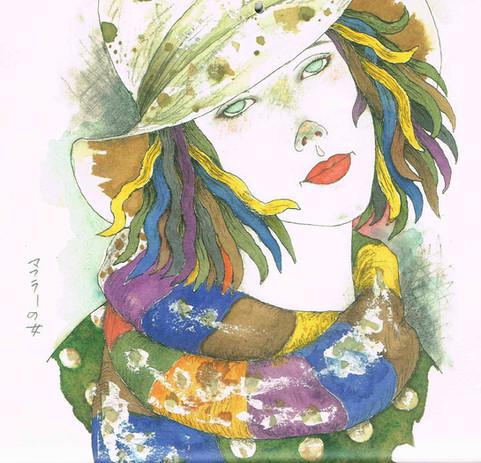 マフラーの女 Masakane Yonekura Art Museum @ Web