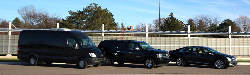 We have Sedans, SUVs, Limos, and Corporate Spinters
