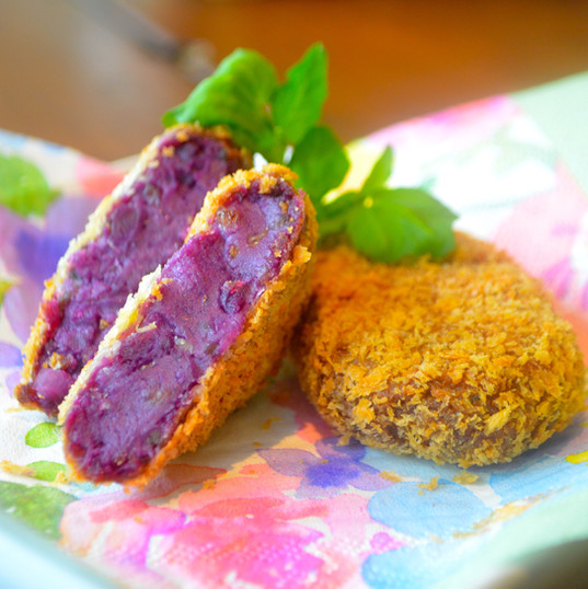 紅芋のクロケット / Purple sweet potato Croquette ¥480