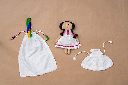 Tanka Doll - Feather Stitch