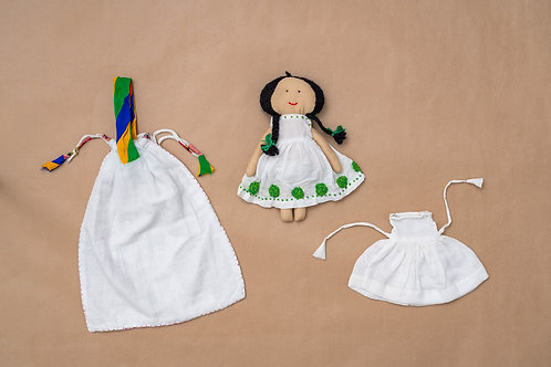 Tanka Doll - French Knot