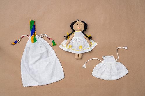 Tanka Doll - Back Stitch