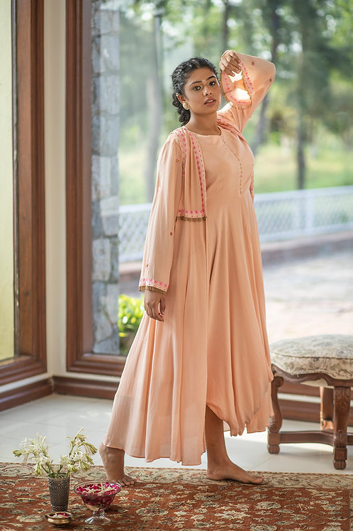 Dusty pink maxi & duster jacket