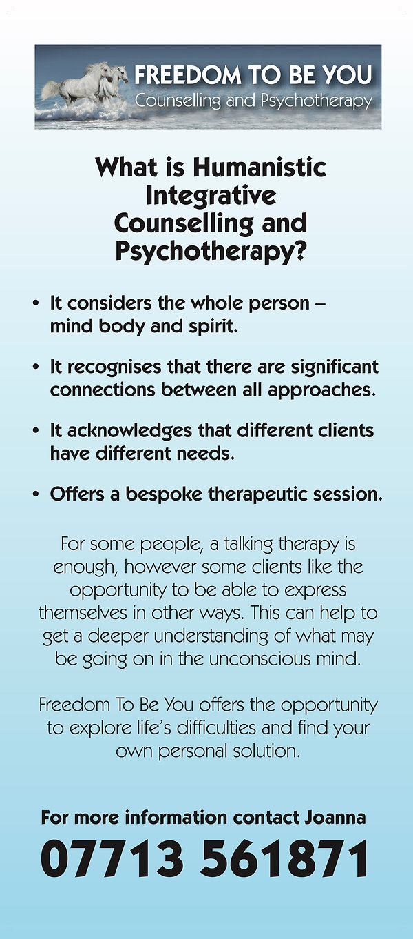 A description of what Humanistic Integrative Counselling and Psychotherapy is.