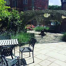 Courtyard at Sir John Moore Foundation, Freedom to be you, Counsellor, Psychotherapist