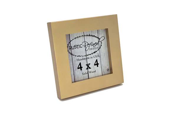 "4x4 1"" Gallery Picture Frame - Gold"