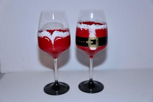 Mr & Mrs Claus Wine Glass Gift Set