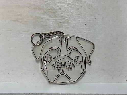 Pug Face Keychain