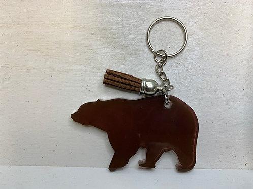 Brown 'Bear' Mountain Keychain