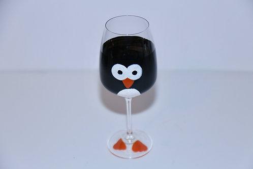 Mr.Penguin Wine glass